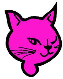 40L Aufkleber Emo Old Gothic Tattoo Kitty Cat Katze