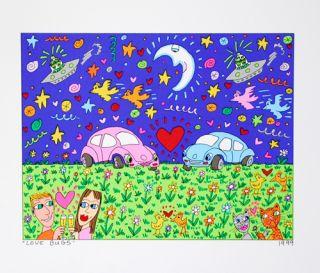 James Rizzi   Love Bugs   1999  Farblithografie   2D