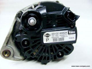 Nissan Micra K12 1,2 48 kW Orig Lichtmaschine 80A 23100 AX62A