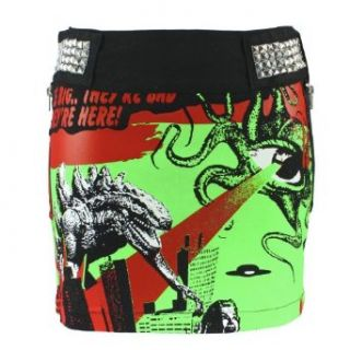 Hell Bunny Rock ALIEN INVASION SKIRT black Bekleidung