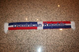 DOMINICAN REPUBLIC COUNTRY FLAG COLORS SCARF SCARVES NEW