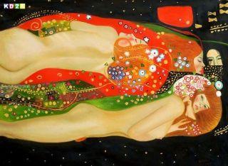 Gustav Klimt   Wasserschlangen k77016 90x120 CM fabelhaftes Jugendstil