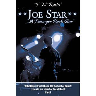 Joe Star a Teenager Rock Star Velvet Blue Crystal Band Hit the Beat