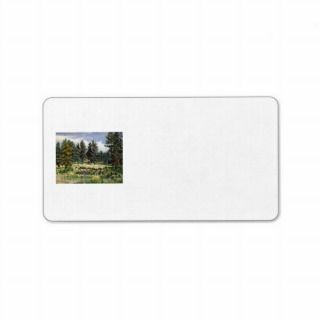 Buffalo Grazing in South Dakota Oil Painting Custom Address Labels