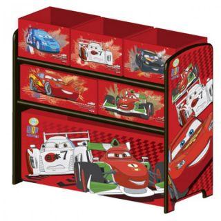 Disney Cars Multi Toy Organizer fuer Spielzeug aus Holz