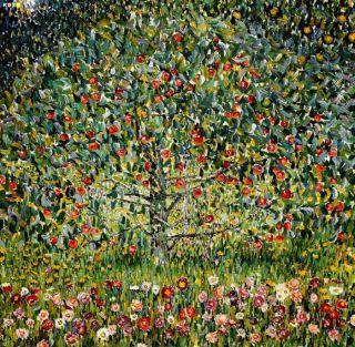 Gustav Klimt Der Apfelbaum e81380 60x60cm bemerkenswertes Olgemaelde