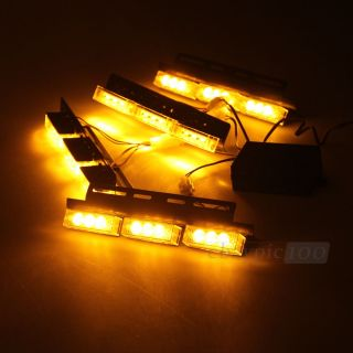 LED Strobo Light Blitzer Strobo Blitzer 12V 3 Flash Modi KFZ Amber