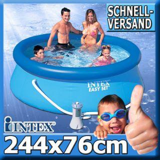 Intex 244x76 Schwimmbecken Schwimmbad Swimming Pool Planschbecken