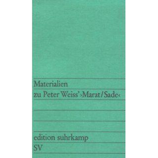 Materialien zu Peter Weiss Marat / Sade Karlheinz Braun
