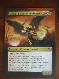 Mtg magic Gisela Blade of Goldnight Avacyn Restored Altered Art card 4