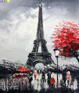 Modern Art Paris Eiffelturm c80766 50x60cm Ölgemälde Gemälde