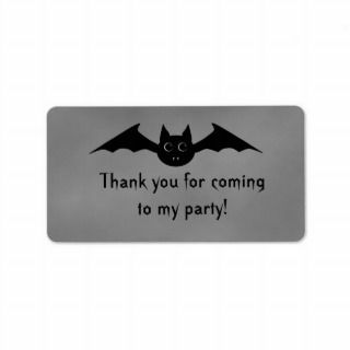 Cute gothic Halloween vampire bat with big eyes Labels
