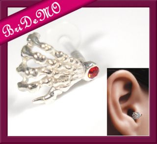 Helix Tragus Cartilage Piercing Skull hand 1,2 x 6 mm Labret PTFE