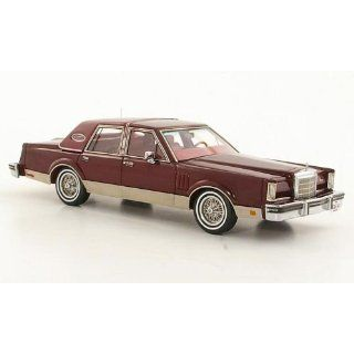 Lincoln Continental Mark VI Sedan, dkl. rot, 1980, Modellauto