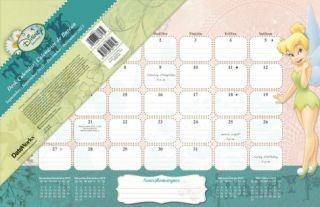 Tinker Bell   2013 Desk Pad Calendar Calendars