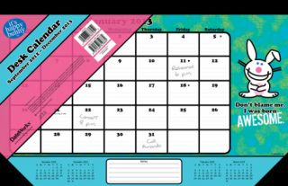 Its Happy Bunny   2013 Desk Pad Calendar Calendars