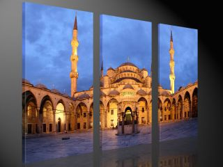 ISTANBUL 130x80cm LEINWANDDRUCK BILDER KUNST BILD ART DESIGN TURKEI