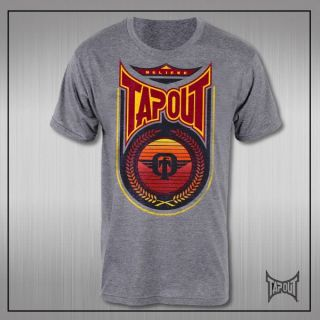 Tapout Ryan Bader Walkout Sun Devil Grey Lightweight T shirt NEW