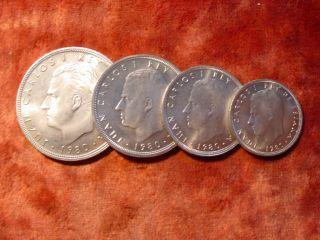 25 Pesetas 5 ,100 Ptas Espana 1980 Juan Carlos I Rey De Espana 82 735