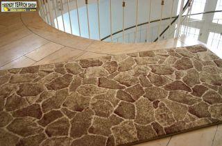 Edel Teppich Läufer *BRUCHSTEIN Braun* Breite 80 cm