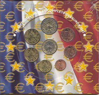 Frankreich Kursmünzensatz (orig., nom. 3,88 Euro) 2003 vz st