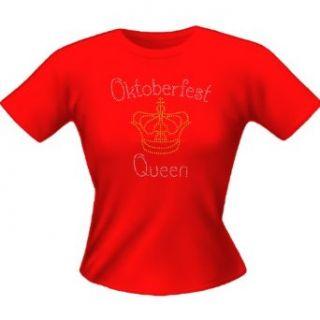 Oktoberfest Damen T Shirt Oktoberfest Queen (Farbe Rot)