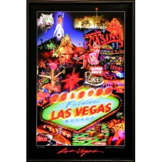 LED Bild Let it Ride LAS VEGAS 46 x 31 cm Garten