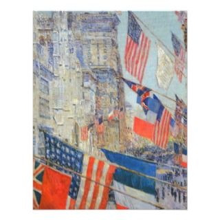 Allies Day, May 1917, Hassam Vintage Impressionism Personalized