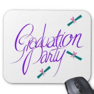2012 Graduation Party invitation High School Mouse Pad