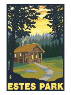 Estes Park, Colorado   Cabin Scene, c.2009 Prints by Lantern Press