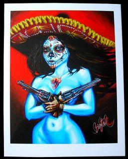 Muerta Chica Kunstruck Poster Big Toe Tattoo Rockabilly