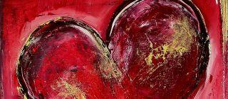 Partner Christmas Gifts Liebe Original Acryl Herz Bild 104
