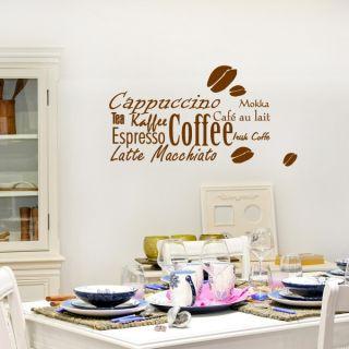 Kaffee   Wandtattoo Wandsticker Walltattoo Wandtatto Wohnzimmer Küche