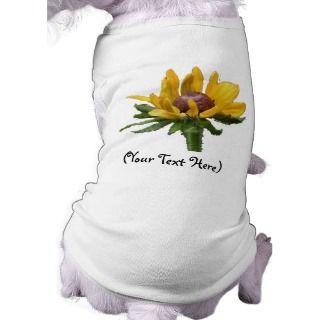 Personalized Black Eyed Susan Flower Dog T Shirt