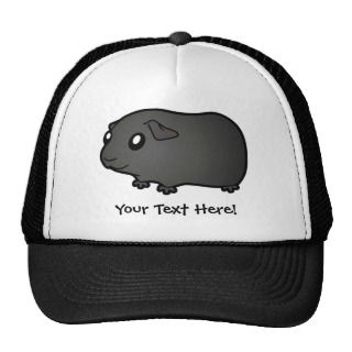 Cartoon Guinea Pig (black) hats by SugarVsSpice