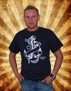 Anchor Anker Tattoo Sailor SHIRT Traditional Oldschool Jerry Nautic