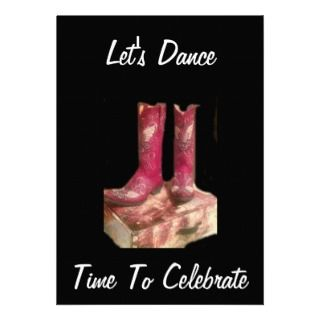 COWGIRL BOOTS CELEBRATORY INVITATION