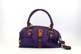 George Gina & Lucy Tasche 02/12 Nylon Geilig no Time coppervioletta