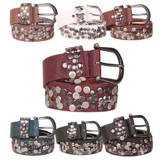 Gürtel Leder Style Nieten Vintage Belt 85 90 95 100 105 WOW
