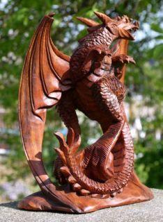 Glücks Drache Holz American DRAGON FENG SHUI HDrach104