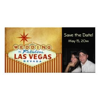 Date Las Vegas Wedding Photocard Photo Card Template