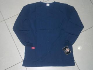 Dickies Medical Scrub Round Neck Snap Front Jacket S