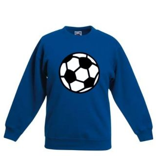 Kinder Sweat Shirt Pullover Fussball 104 164 Farbwahl