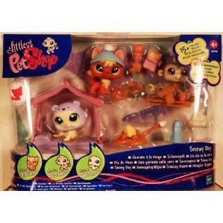 Littlest Pet Shop   SPORTIEST   Snowy Day   Super Set mit Fuchs #1028