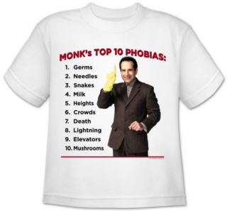 Youth: Monk   Top 10 Phobias T Shirt