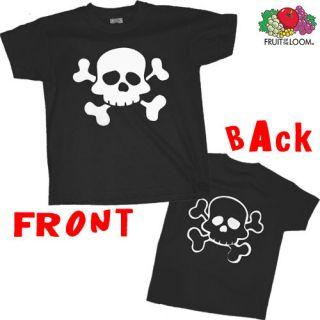 Kinder T Shirt Pirat Piraten Totenkopf weiß 104   140