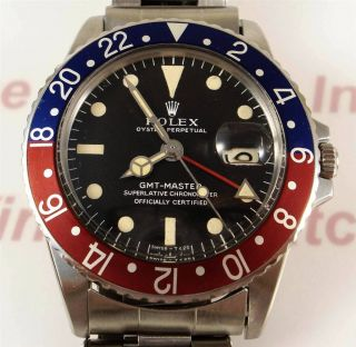 Rolex GMT Master 1675 Box & Papers 1968 PERFECT