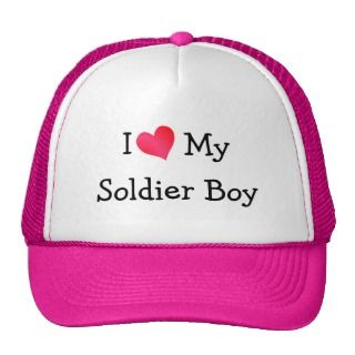 Love My Soldier Boy Mesh Hat