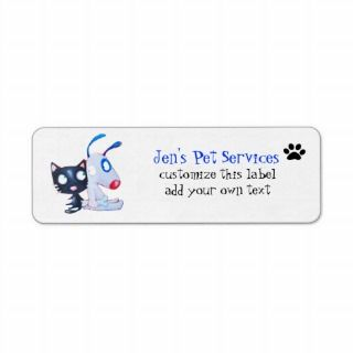 pet care, pet services, veterinarians custom return address labels
