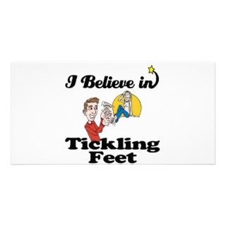 believe in tickling feet photo greeting card